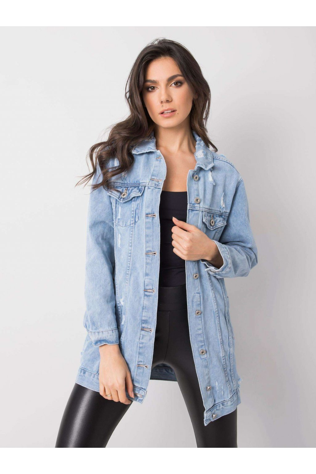 pol pl Niebieska damska kurtka jeansowa Ana 361489 4