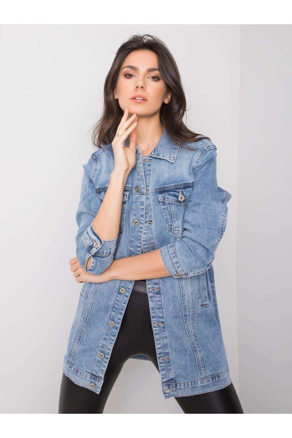pol pl Niebieska kurtka jeansowa Michelle 361485 4