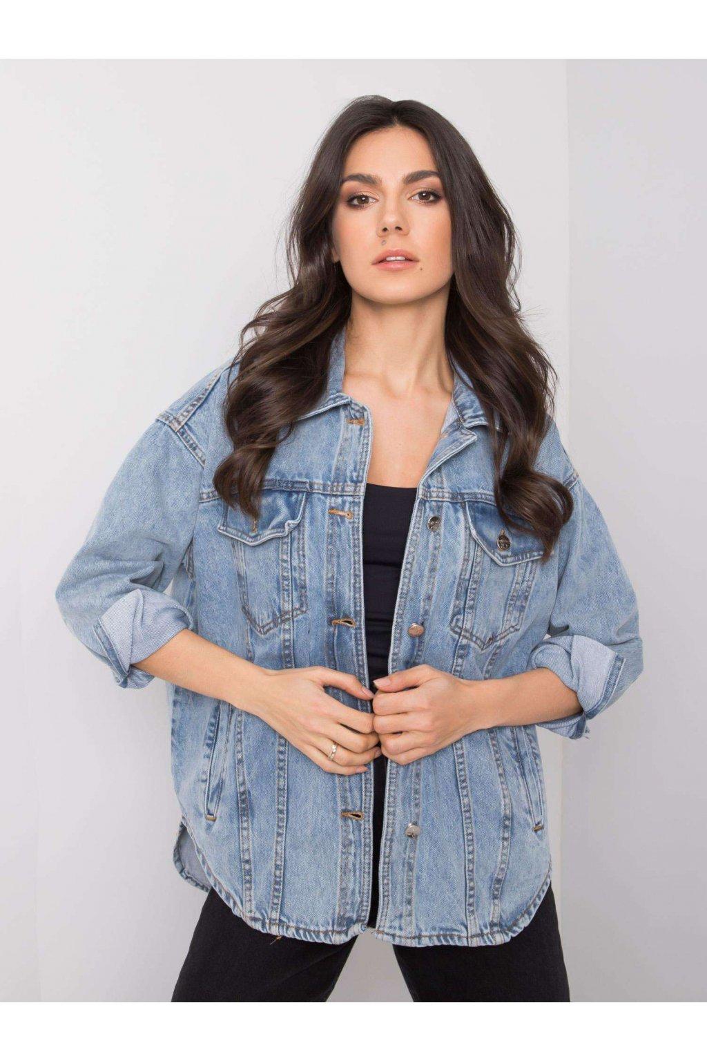 pol pl Niebieska kurtka damska jeansowa Modena 360633 1