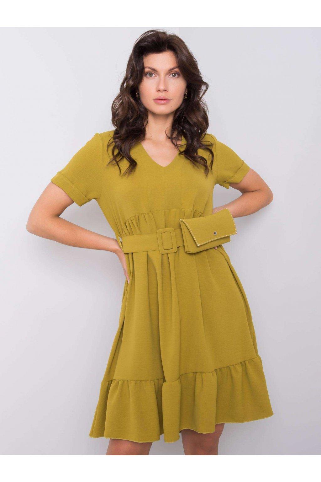 pol pl Jasna khaki sukienka z falbana Vianna 364107 1
