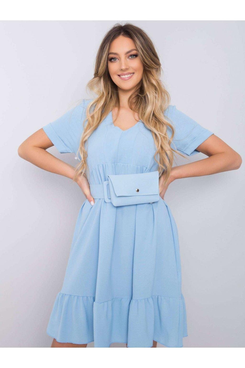 pol pl Niebieska sukienka z falbana Vianna 364103 1