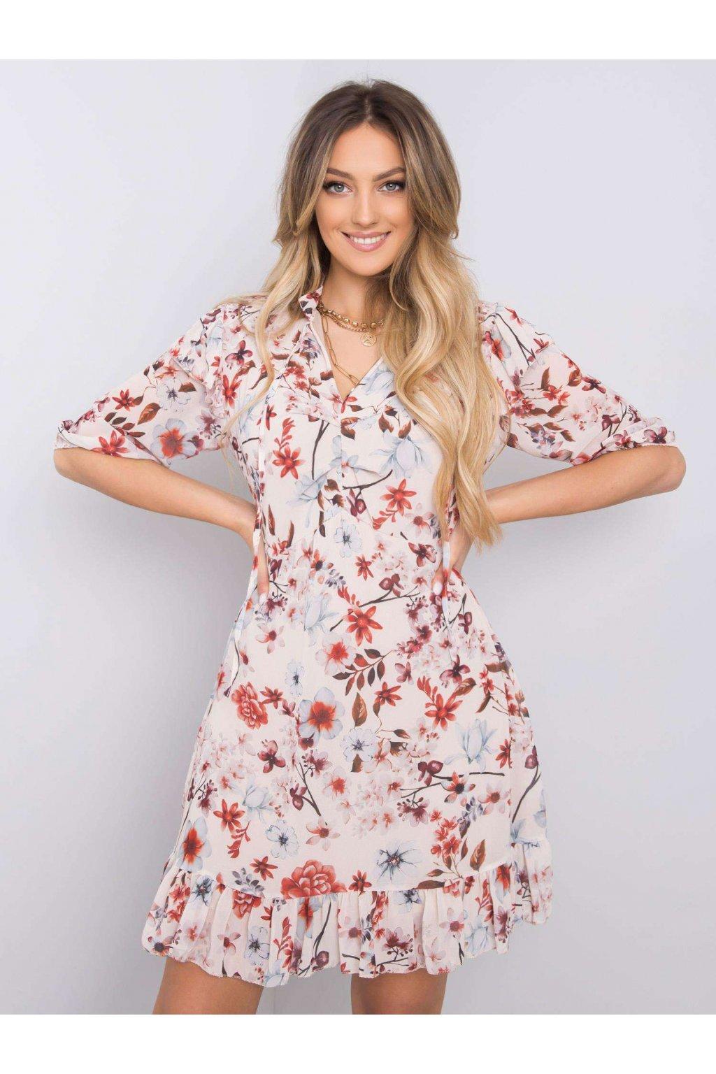 pol pl Bezowa sukienka w kwiaty Verity 364090 5