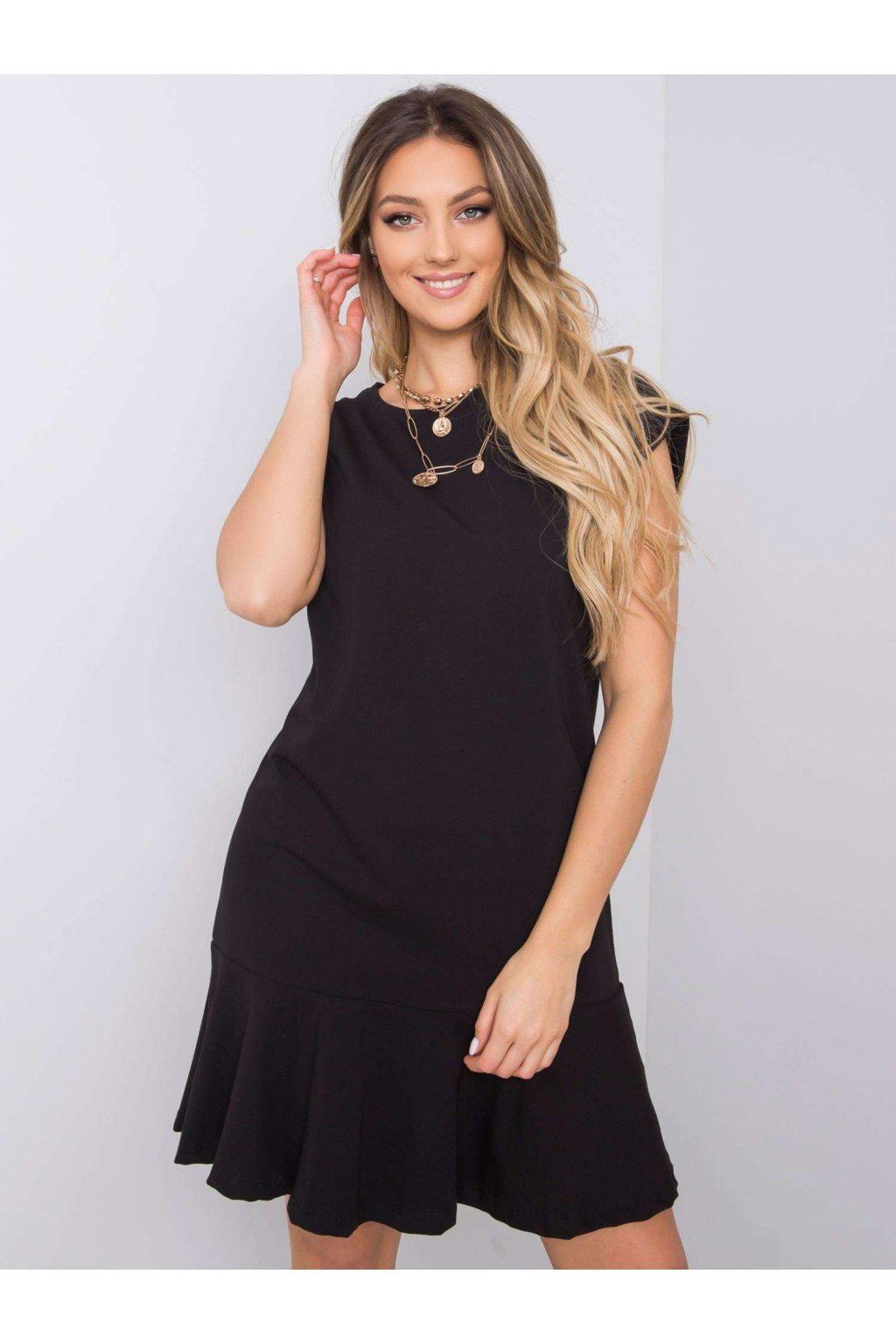 pol pl Czarna sukienka z falbana River 363386 1