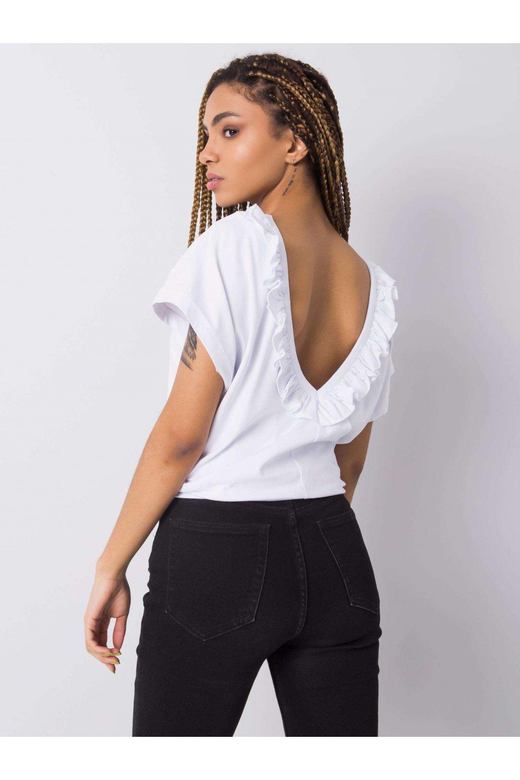 pol pl Biala bluzka z falbankami Leanne 363353 1