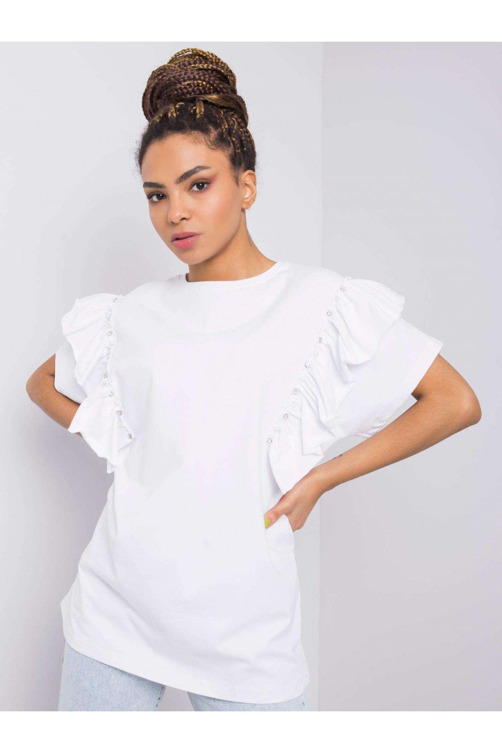 pol pl Biala bluzka z aplikacja Miabella 363343 1