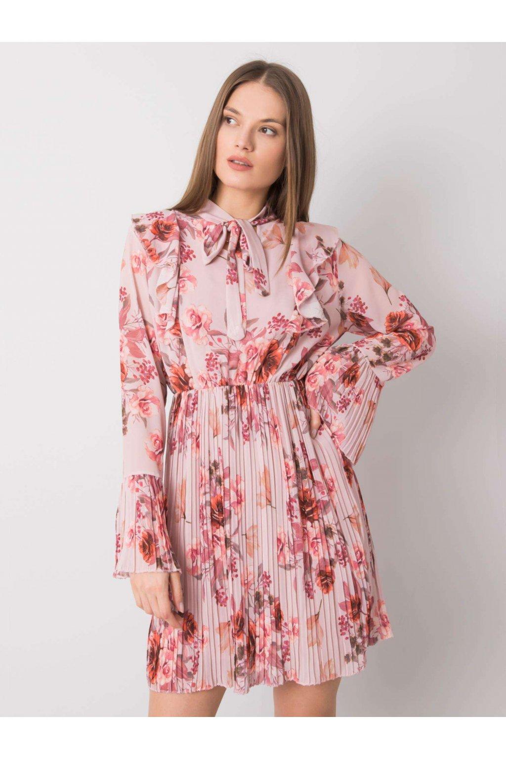 pol pl Brudnorozowa sukienka w kwiaty Hayley 362593 4