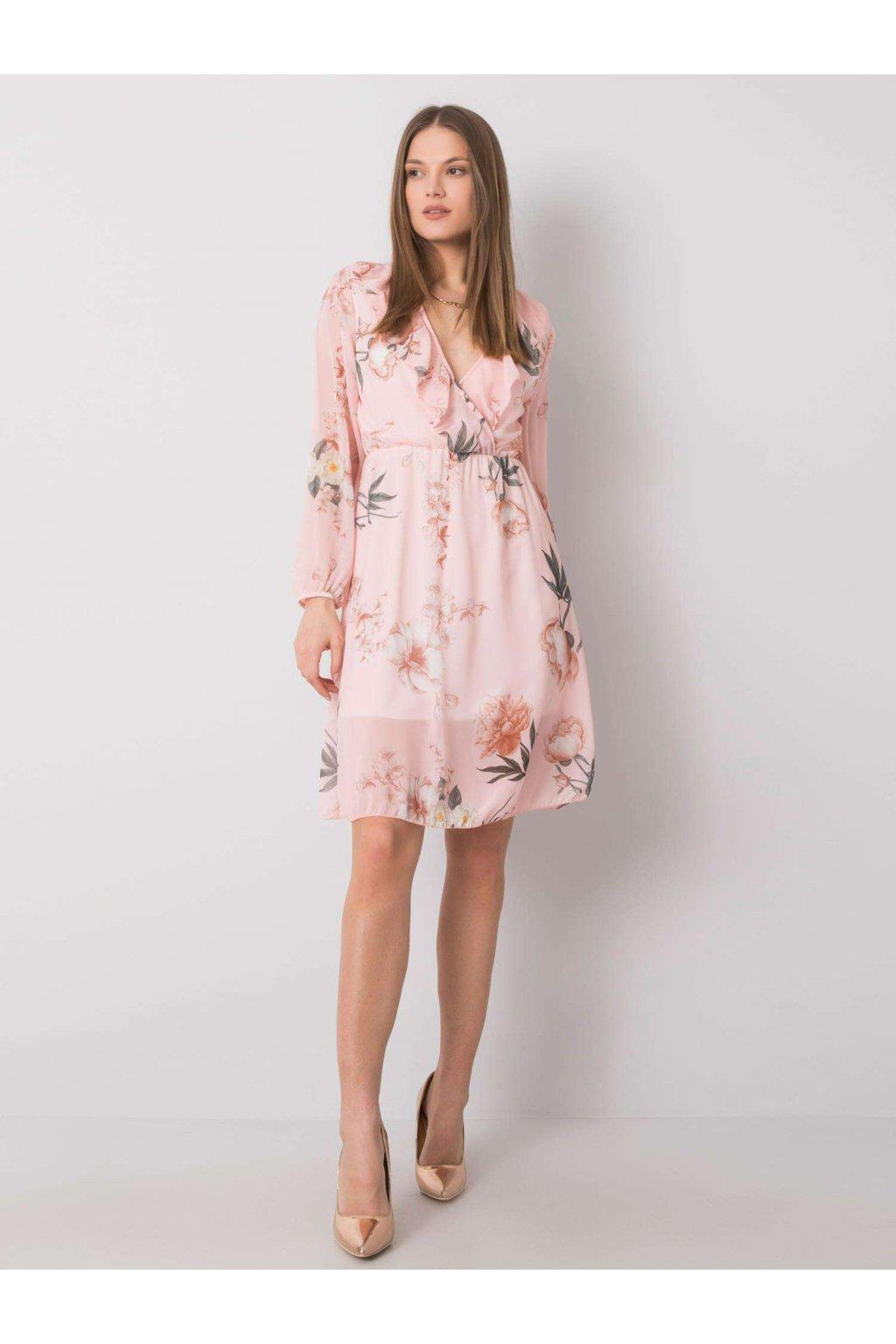 pol pl Jasnorozowa sukienka w kwiaty Desirae 362587 1