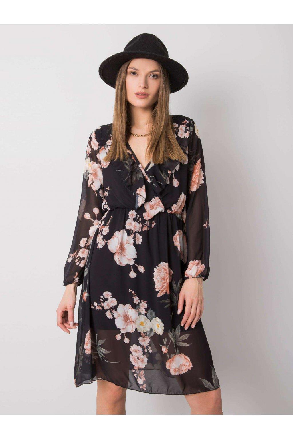 pol pl Czarna sukienka w kwiaty Desirae 362586 1