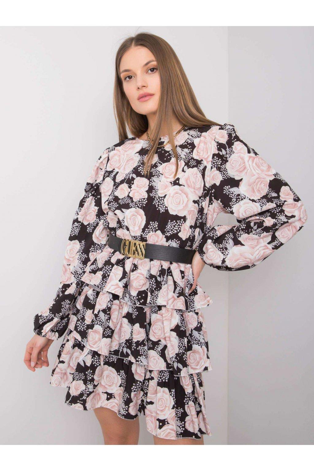 pol pl Czarna sukienka z falbanami Carla 362584 1