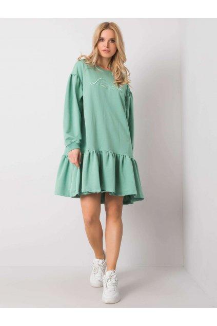 pol pl Pistacjowa sukienka z falbana Janelle 364288 1