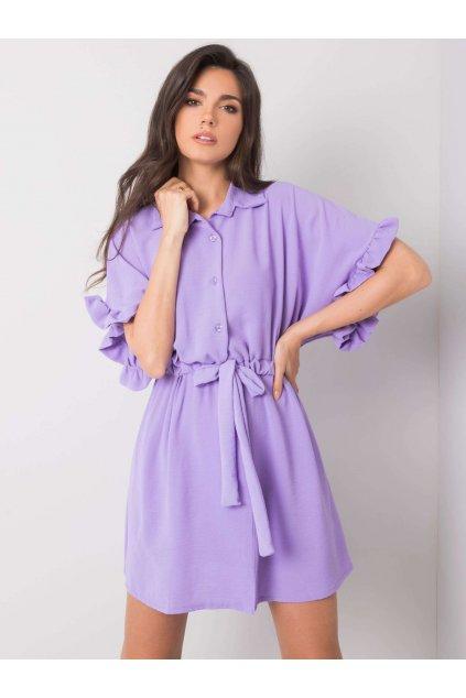 pol pl Fioletowa sukienka z wiazaniem Adelita 364638 1