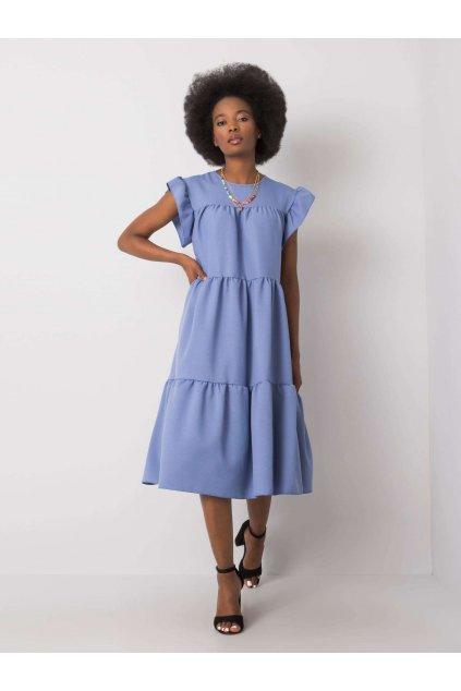 pol pl Niebieska sukienka z falbana Jaylin RUE PARIS 366597 1