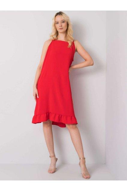 pol pl Czerwona sukienka na ramiaczkach Simone 367566 4