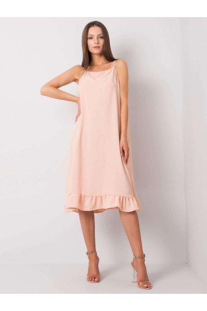 pol pl Brzoskwiniowa sukienka na ramiaczkach Simone 367640 1 (1)