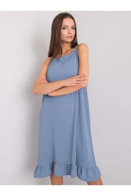 pol pl Niebiesko szara sukienka na ramiaczkach Simone 367619 1