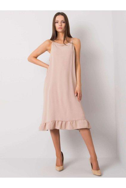 pol pl Bezowa sukienka na ramiaczkach Simone 367618 1 (1)