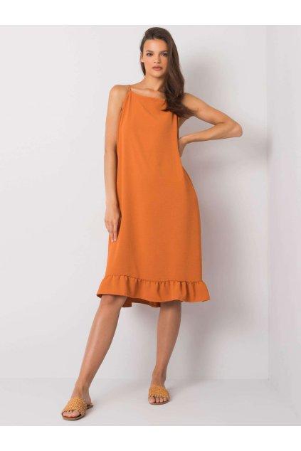 pol pl Ceglasta sukienka na ramiaczkach Simone 367544 2