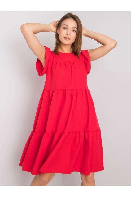 pol pl Czerwona sukienka z falbana Jaylin RUE PARIS 366599 1