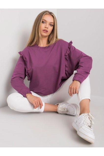 pol pl Fioletowa bluza z falbankami Monserrat 372770 2