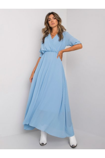 pol pl Niebieska dluga sukienka plisowana Alejandra 373215 5