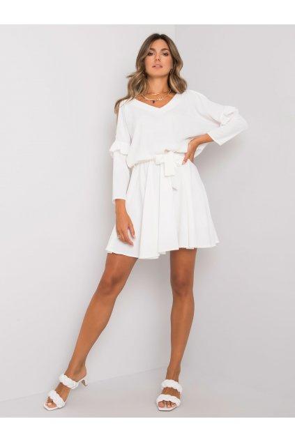 pol pl Biala sukienka z wiazaniem Aleah RUE PARIS 373164 3