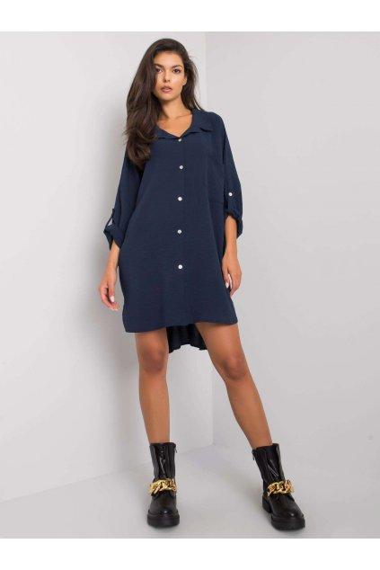 pol pl Granatowa sukienka oversize Elaria 374694 1