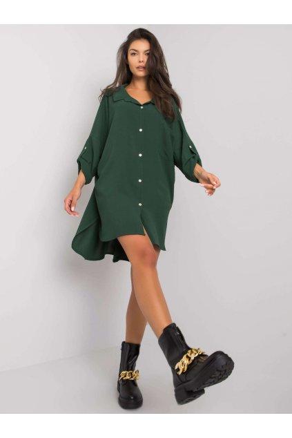 pol pl Ciemnozielona sukienka oversize Elaria 374681 1