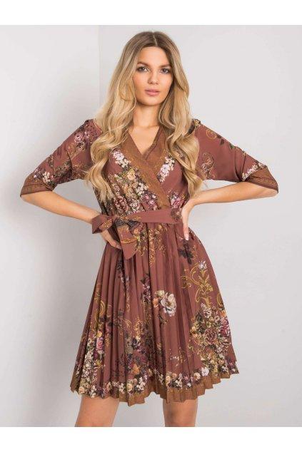 pol pl Brazowa sukienka plisowana Xana 374926 1