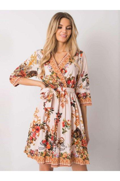 pol pl Bezowa sukienka plisowana Xana 374925 1
