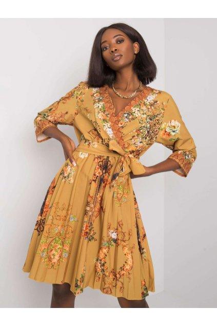 pol pl Musztardowa sukienka plisowana Xana 374908 1
