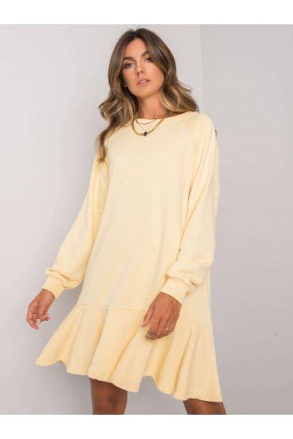 pol pl Zolta sukienka z falbana Perrine 372813 1