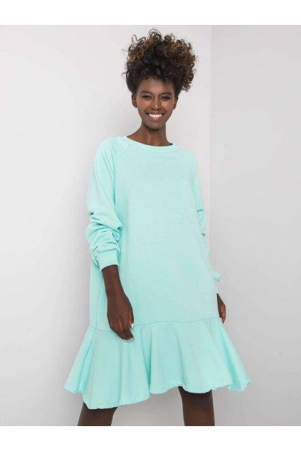 pol pl Mietowa sukienka z falbana Perrine 372795 1