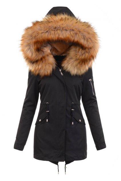 Dámska zimná bunda parka 2v1 6010 čierna