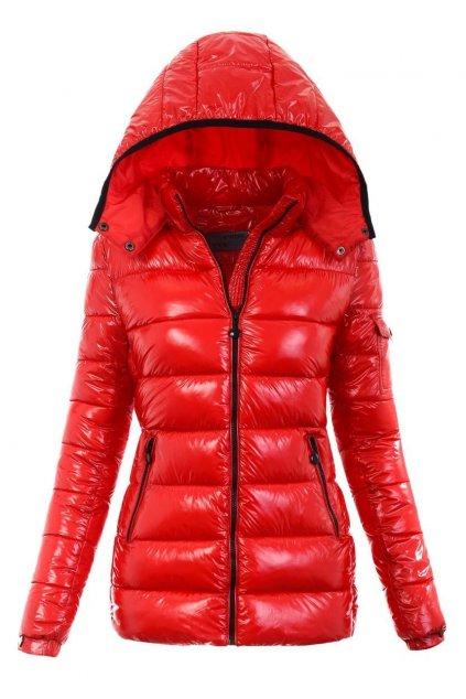 Dámska zimná bunda s kapucňou 6001 červená