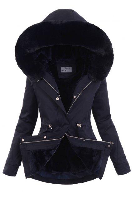 Dámska zimná bunda parka 2v1 6100 modra