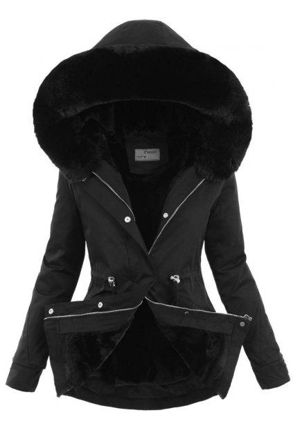 Dámska zimná bunda parka 2v1 6099 čierna