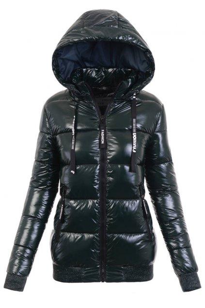 Dámska zimná bunda s kapucňou 6107 zelená