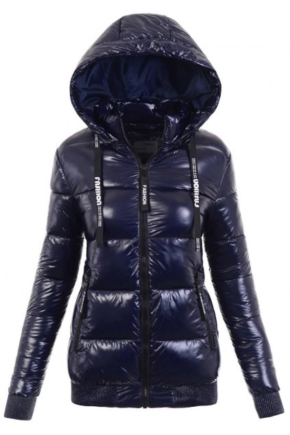 Dámska zimná bunda s kapucňou 6106 modrá
