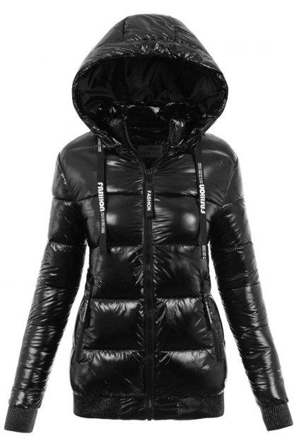 Dámska zimná bunda s kapucňou 6105 čierna