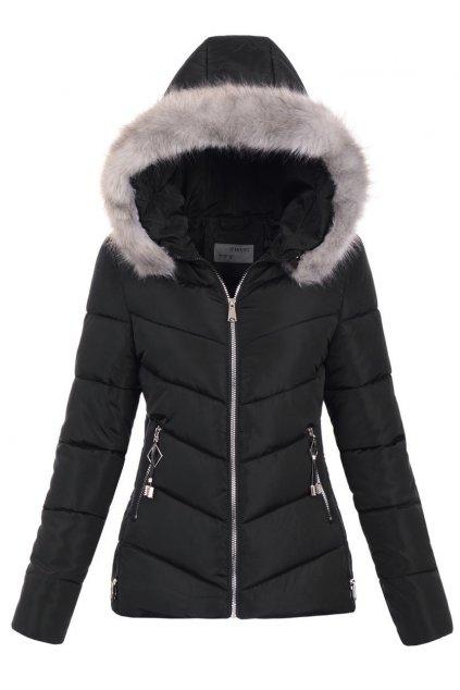 Dámska zimná bunda s kapucňou 6213 čierna