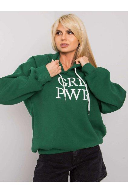 pol pl Zielona ocieplana bluza z kapturem Debby 378122 1