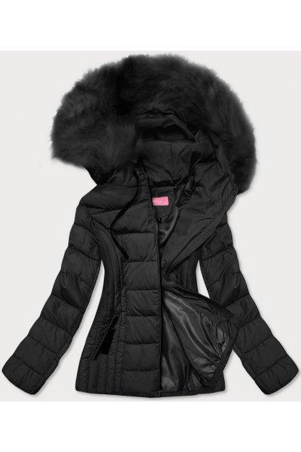 Dámska zimná bunda s kapucňou 8943 čierna