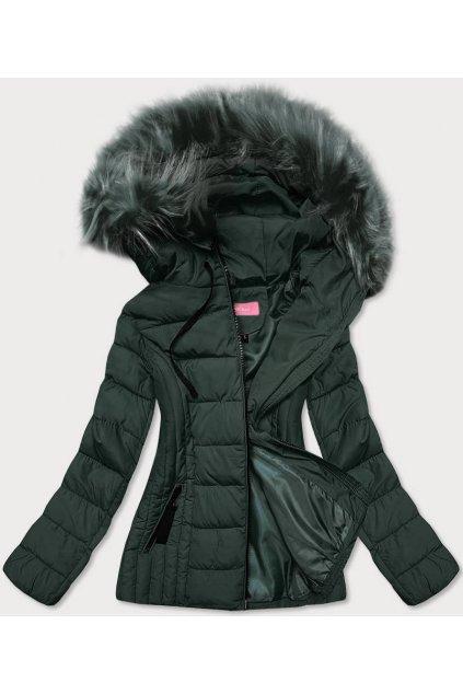 Dámska zimná bunda s kapucňou 8943 zelená