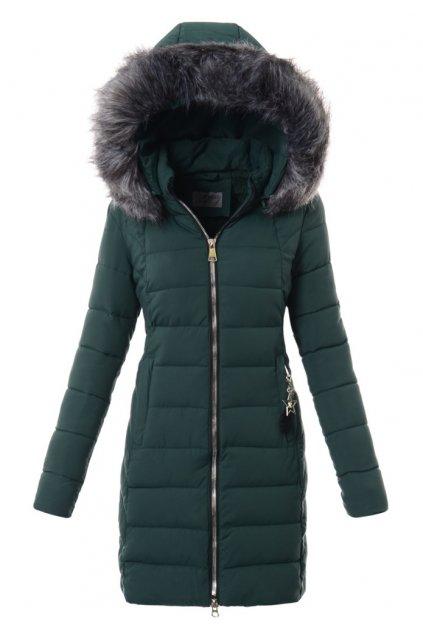 Dámska zimná bunda s kožušinou 3573 zelená