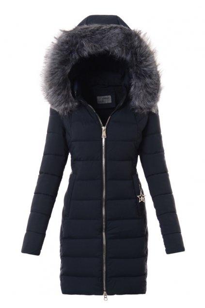 Dámska zimná bunda s kožušinou 3572 modrá