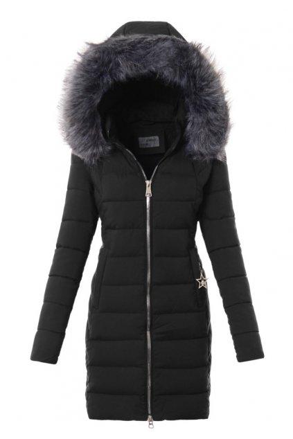 Dámska zimná bunda s kožušinou 3571 čierna