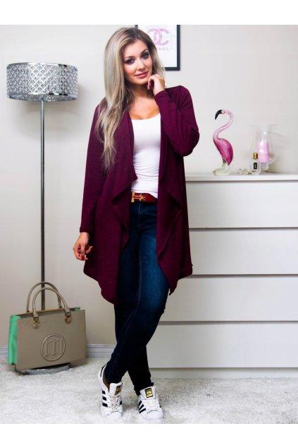 Dámsky sveter/kardigan 1150 bordový