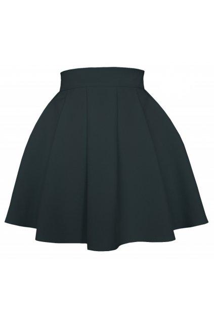 Áčková sukňa mini volán čierna