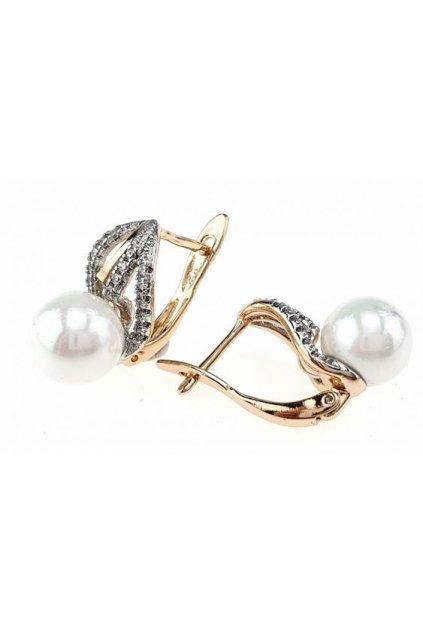 Zlaté perlové náušnice 1735