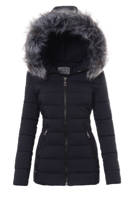 Dámska zimná bunda s kapucňou 3457 modrá